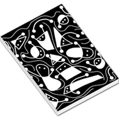Playful abstract art - Black and white Large Memo Pads