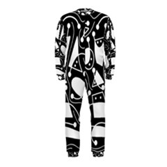 Playful abstract art - Black and white OnePiece Jumpsuit (Kids)
