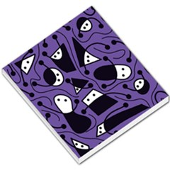 Playful abstract art - purple Small Memo Pads