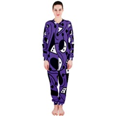 Playful abstract art - purple OnePiece Jumpsuit (Ladies)