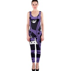 Playful abstract art - purple OnePiece Catsuit