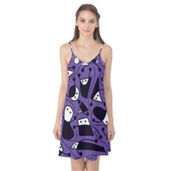 Playful abstract art - purple Camis Nightgown
