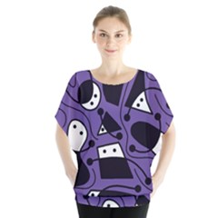 Playful abstract art - purple Blouse