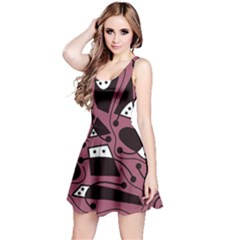 Playful abstraction Reversible Sleeveless Dress