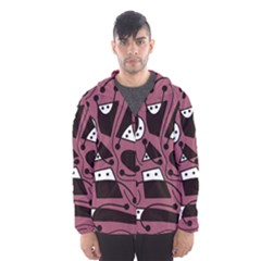 Playful abstraction Hooded Wind Breaker (Men)