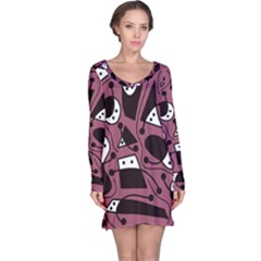 Playful abstraction Long Sleeve Nightdress