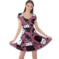 Playful abstraction Cap Sleeve Dresses