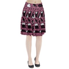 Playful abstraction Pleated Skirt