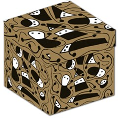 Playful abstract art - Brown Storage Stool 12