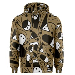 Playful abstract art - Brown Men s Pullover Hoodie