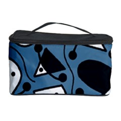 Playful abstract art - blue Cosmetic Storage Case