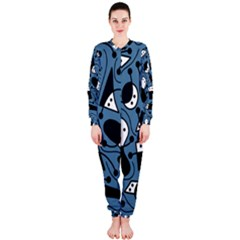 Playful abstract art - blue OnePiece Jumpsuit (Ladies)