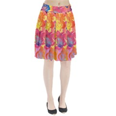 Pop Art Roses Pleated Skirt