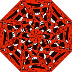 Playful abstract art - red Straight Umbrellas