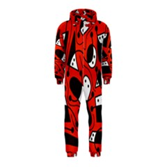 Playful abstract art - red Hooded Jumpsuit (Kids)