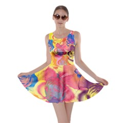 Pop Art Roses Skater Dress