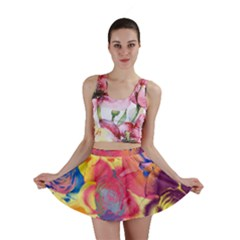 Pop Art Roses Mini Skirt