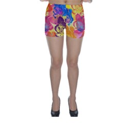 Pop Art Roses Skinny Shorts
