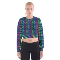 Colorful Lines Women s Cropped Sweatshirt