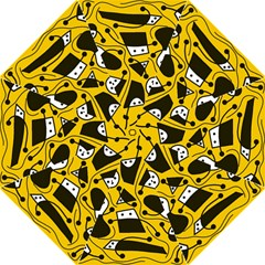 Playful abstract art - Yellow Folding Umbrellas