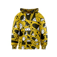 Playful abstract art - Yellow Kids  Pullover Hoodie
