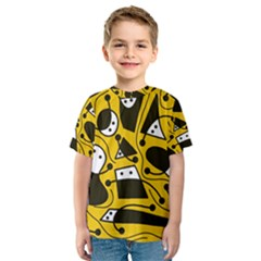 Playful abstract art - Yellow Kid s Sport Mesh Tee