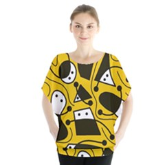 Playful abstract art - Yellow Blouse