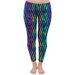 Colorful Lines Winter Leggings