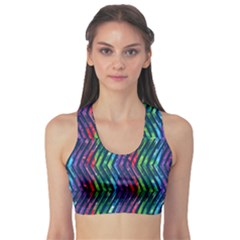 Colorful Lines Sports Bra