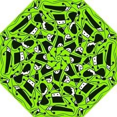 Playful abstract art - green Folding Umbrellas