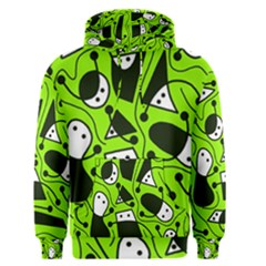 Playful abstract art - green Men s Pullover Hoodie