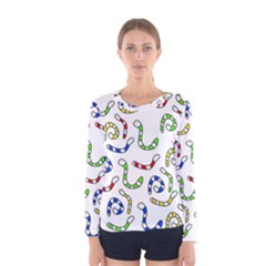 Colorful worms  Women s Long Sleeve Tee