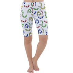 Colorful worms  Cropped Leggings