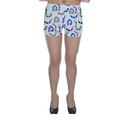 Colorful worms  Skinny Shorts