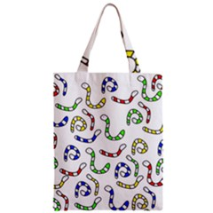 Colorful worms  Zipper Classic Tote Bag
