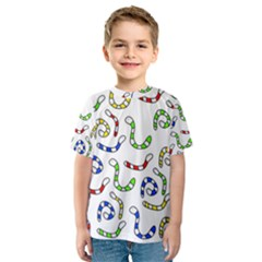 Colorful worms  Kid s Sport Mesh Tee