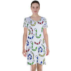 Colorful worms  Short Sleeve Nightdress