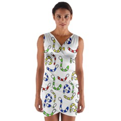 Colorful worms  Wrap Front Bodycon Dress