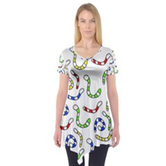 Colorful Worms  Short Sleeve Tunic