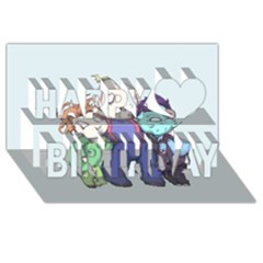 Fred, Sloth, Maurice  Happy Birthday 3D Greeting Card (8x4)