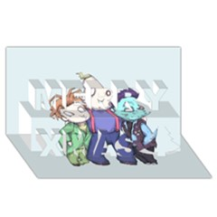 Fred, Sloth, Maurice  Merry Xmas 3d Greeting Card (8x4)