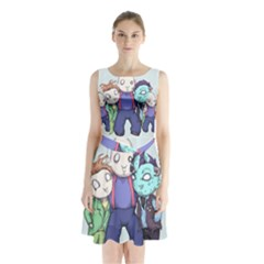 Fred, Sloth, Maurice  Sleeveless Chiffon Waist Tie Dress