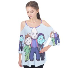 Fred, Sloth, Maurice  Flutter Tees