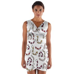 Cute worms Wrap Front Bodycon Dress
