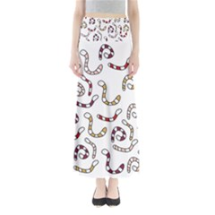 Cute worms Maxi Skirts