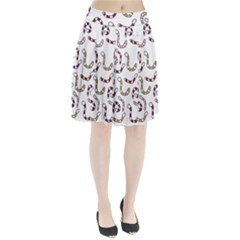 Cute worms Pleated Skirt