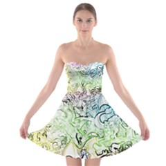 Pokemon Pattern Strapless Dresses