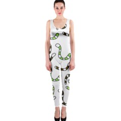 Green worms OnePiece Catsuit