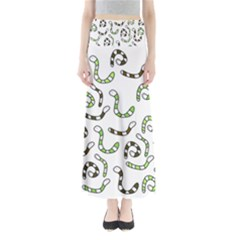 Green worms Maxi Skirts