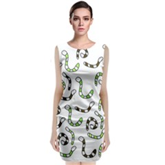 Green Worms Classic Sleeveless Midi Dress